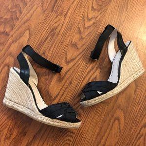 Coach Verronica Black Espadrille Wedge Sandals 10